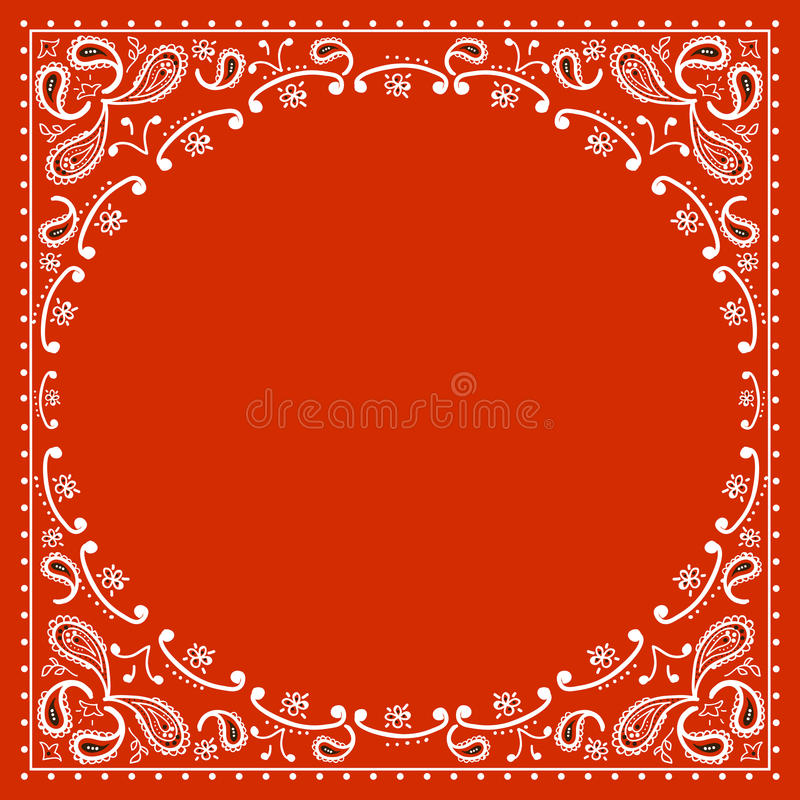 Bandanna rosso del cowboy royalty illustrazione gratis