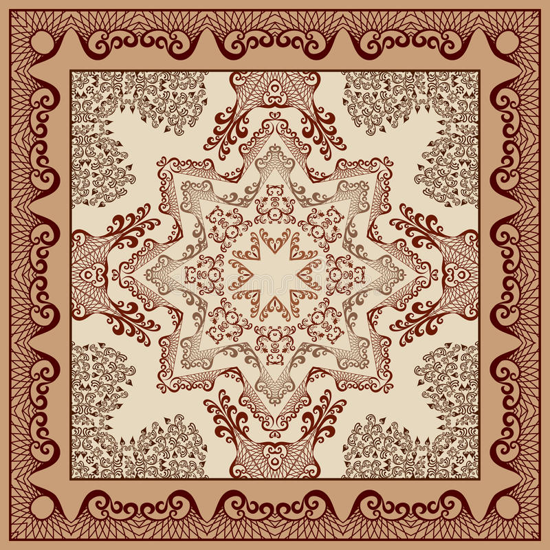 Free Bandanna With Openwork Pattern With Breeden (Richelieu) Royalty Free Stock Photos - 59199428