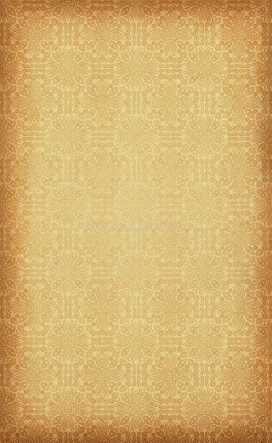 Bandany, Bandhani wzór na rocznika papierze/ obrazy royalty free