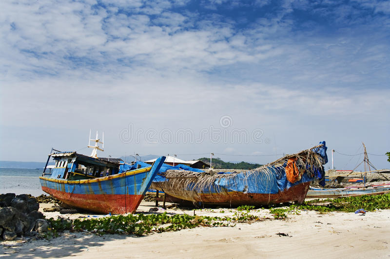 bandar rybaka Indonesia lampung s wioska zdjęcia stock
