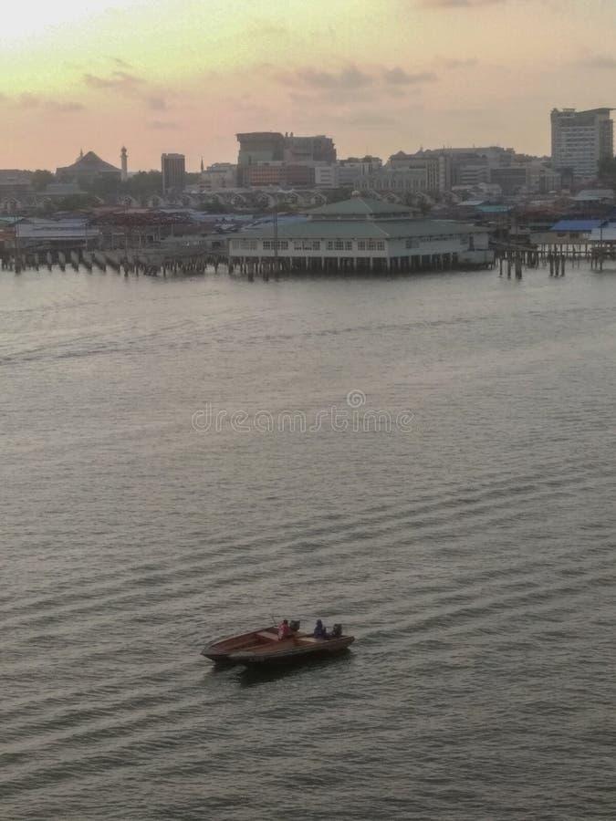 Bandar, Bandar Seri Begawan/Μπρουνέι Darussalam - 18 Μαΐου 2019: Άποψη μιας πρωτεύουσας Bandar Seri του Μπρουνέι Darussalam Begaw στοκ εικόνες