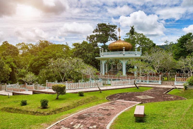 Bandar Seri Begawan,Brunei Darussalam-MARCH 31,2017:Mausoleum of Sultan Bolkiah at Kampung Kota Batu stock photos