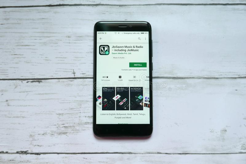 FM Radio Dev Application On Smartphone Screen  Editorial