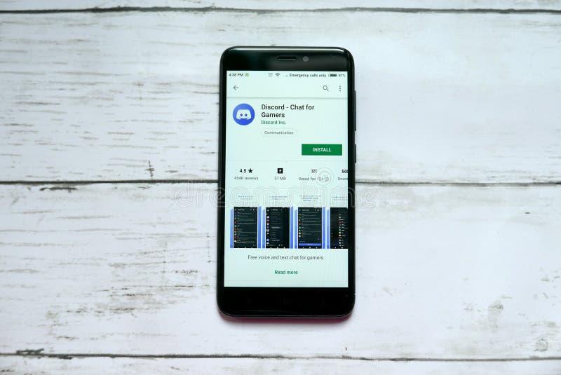 BANDAR SERI BRUNEI, STYCZEŃ BEGAWAN, - 21ST, 2019: Niesnaski - gadka dla gamers podaniowych na androidu google play store obrazy royalty free
