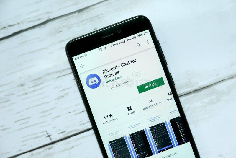 BANDAR SERI BRUNEI, STYCZEŃ BEGAWAN, - 21ST, 2019: Niesnaski - gadka dla gamers podaniowych na androidu google play store zdjęcia stock