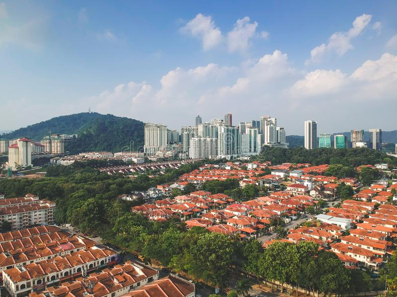 Bandar Utama residential township stock images