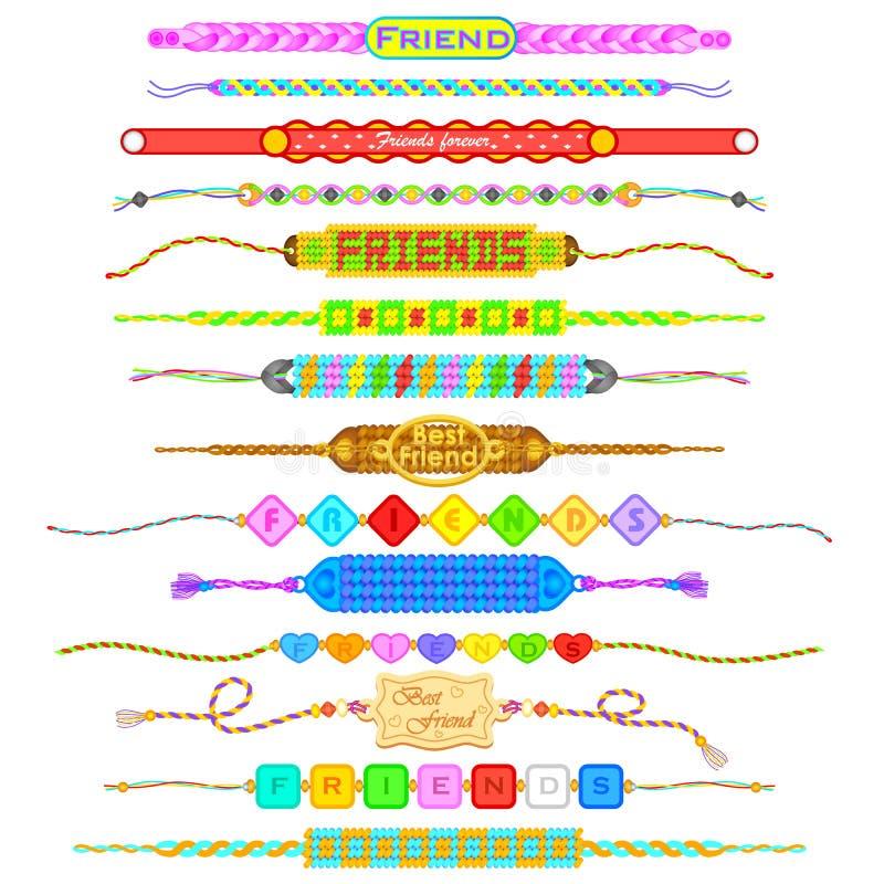 Bandas coloridas de la amistad libre illustration