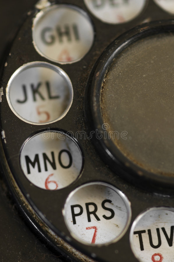 BANDAS - teléfono de dial rotatorio ascendente cercano fotos de archivo