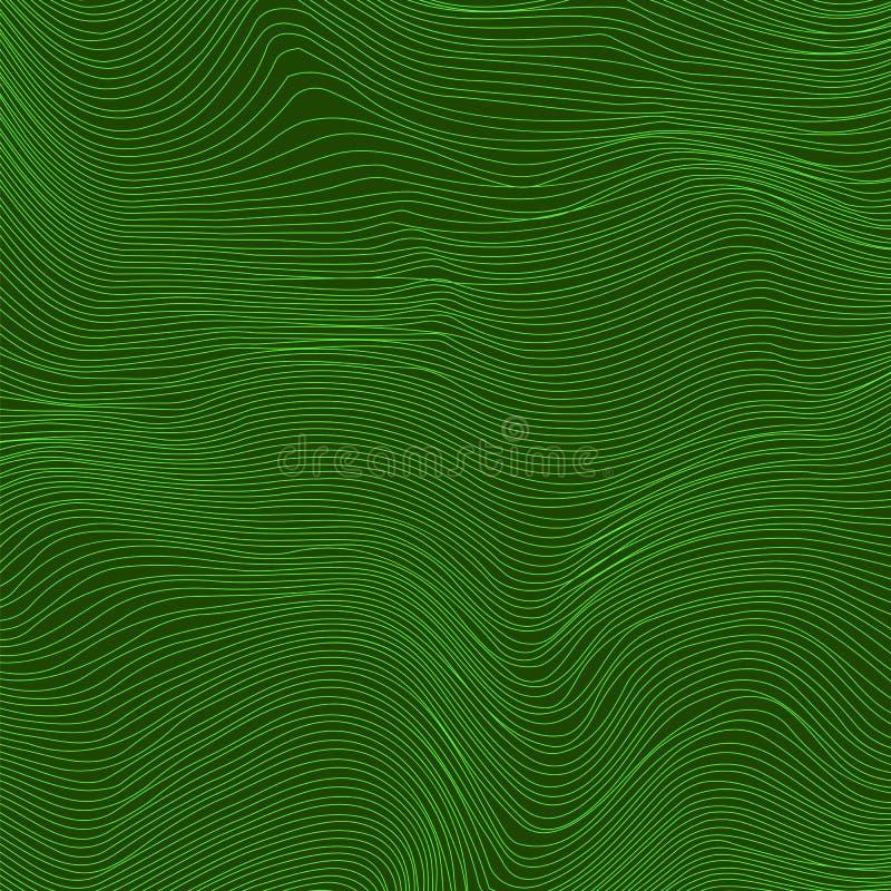 Bandbakgrund för grön våg Linje texturerad modell vektor illustrationer