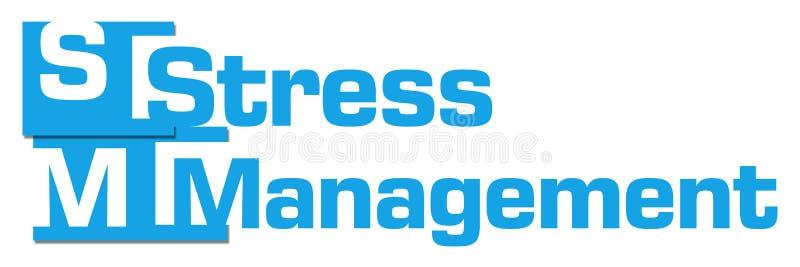 Bande astratte blu della gestione dello stress illustrazione di stock