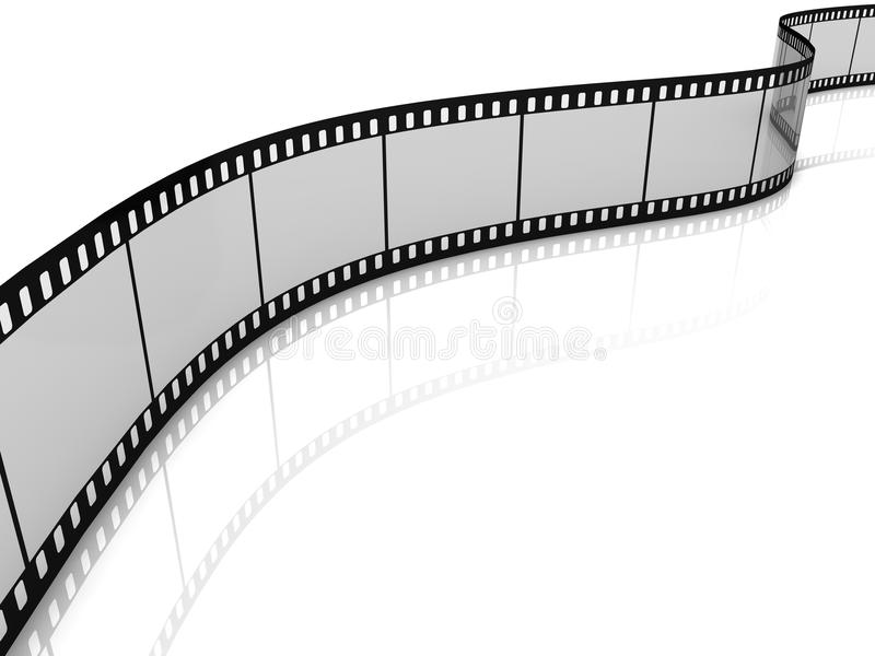 Bande blanc de film illustration stock