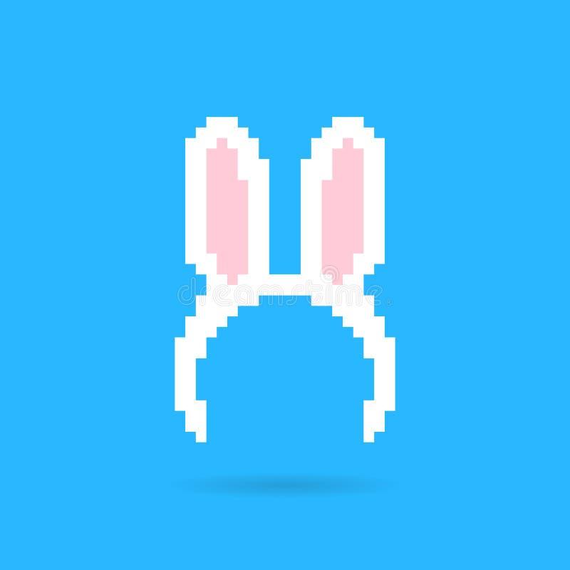 Bande blanche d'oreilles de lapin illustration stock