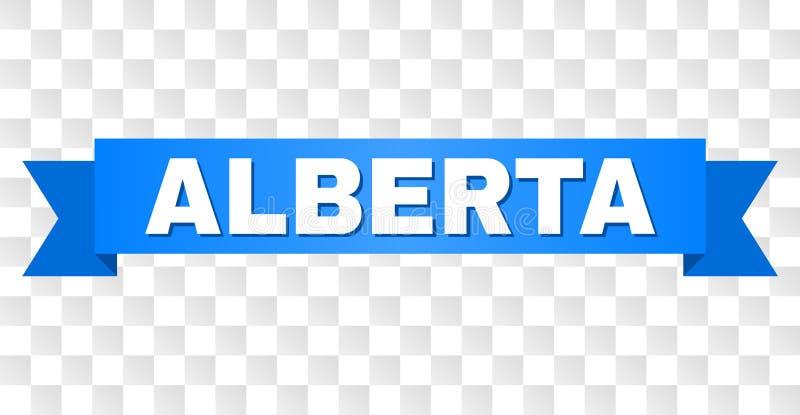 Bande bleue avec ALBERTA Title illustration de vecteur