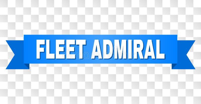 Bande bleue avec AMIRAL de FLOTTE Title illustration stock