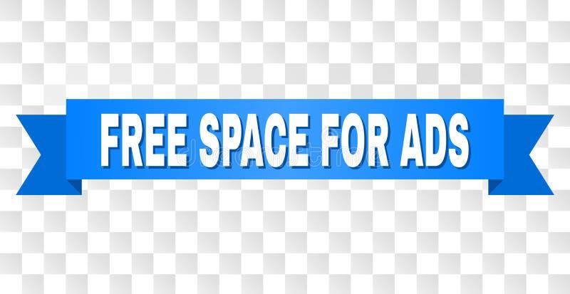Bande bleue avec l'ESPACE LIBRE POUR le texte d'ADS illustration stock