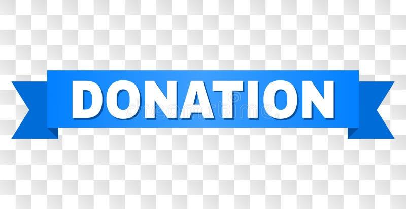 Bande bleue avec la légende de DONATION illustration stock