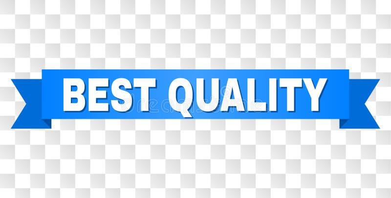 Bande bleue avec le MEILLEUR titre de QUALITÉ illustration de vecteur