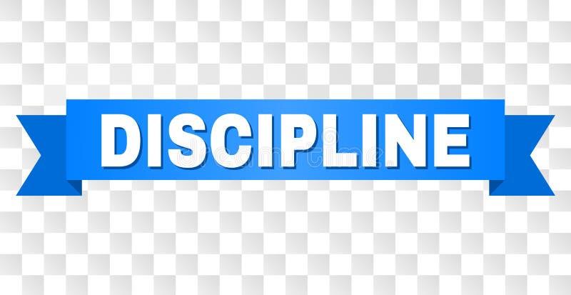 Bande bleue avec le titre de DISCIPLINE illustration de vecteur