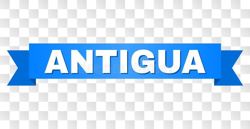 Bande bleue avec le titre de l'ANTIGUA illustration stock