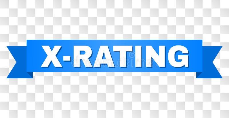 Bande bleue avec le titre de X-RATING illustration libre de droits