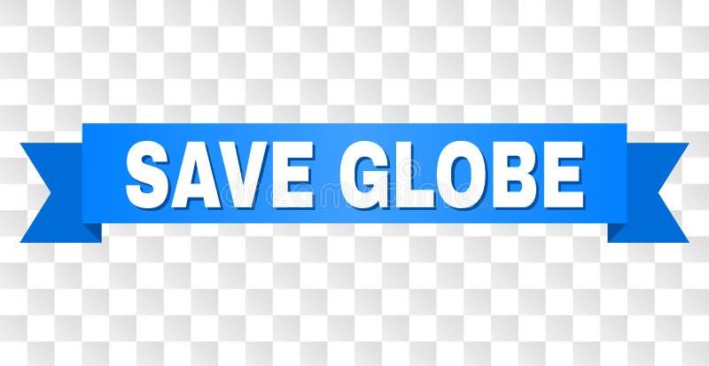 Bande bleue avec le titre DE SAUVEGARDE de GLOBE illustration de vecteur