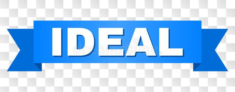 Bande bleue avec le titre IDÉAL illustration stock