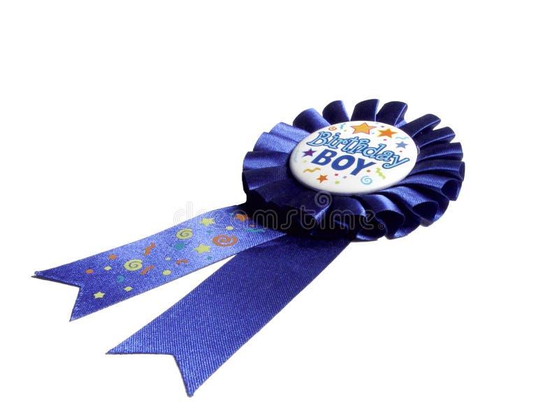 Bande bleue d'anniversaire photo stock
