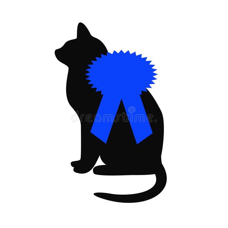 Bande bleue d'exposition de chat illustration libre de droits