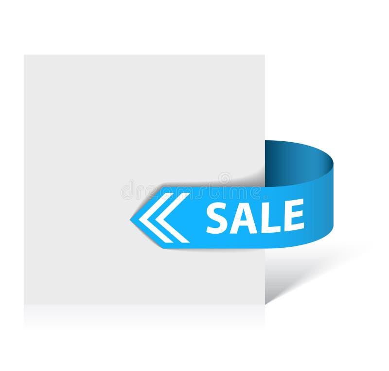 Bande bleue de vente illustration de vecteur