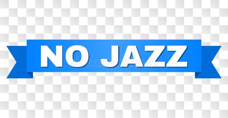 Bande bleue sans JAZZ Caption illustration libre de droits