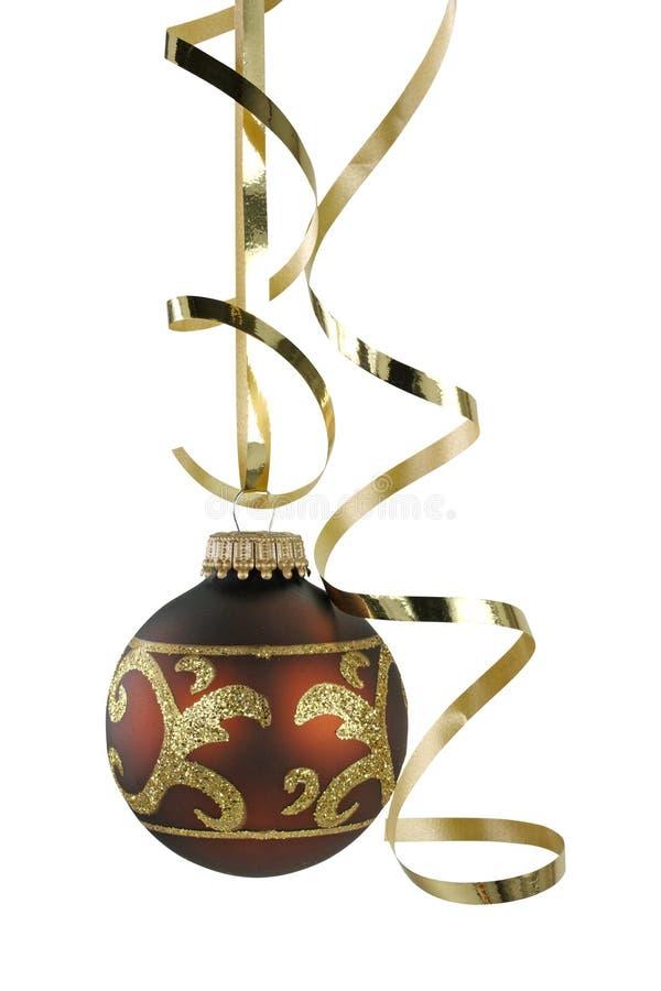 bande bouclée de Noël brun de bille images stock