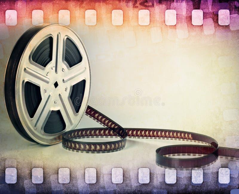 Bande colorée de film, fond de bobine de film photographie stock libre de droits