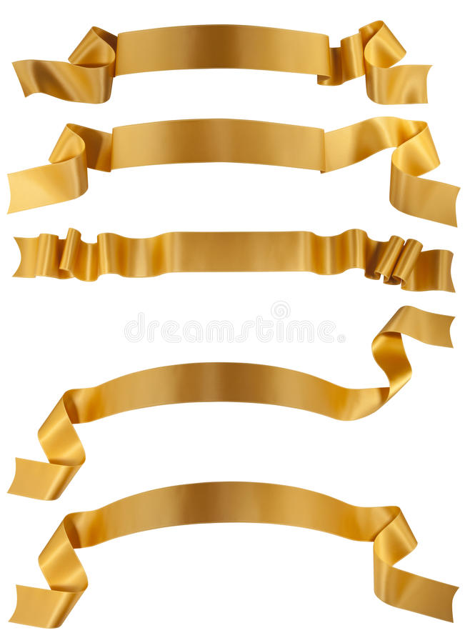 Bande d'or image stock
