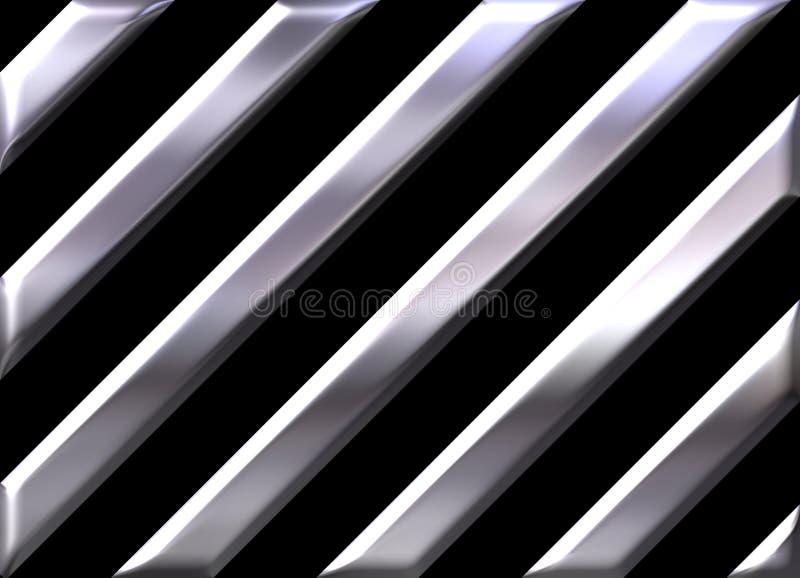 Bande d'argento su priorità bassa nera royalty illustrazione gratis