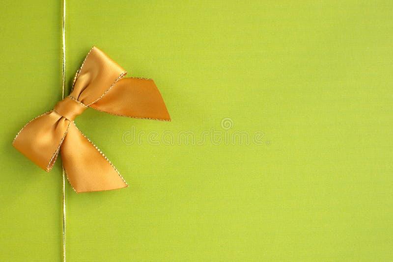 Bande d'or sur le fond vert images libres de droits
