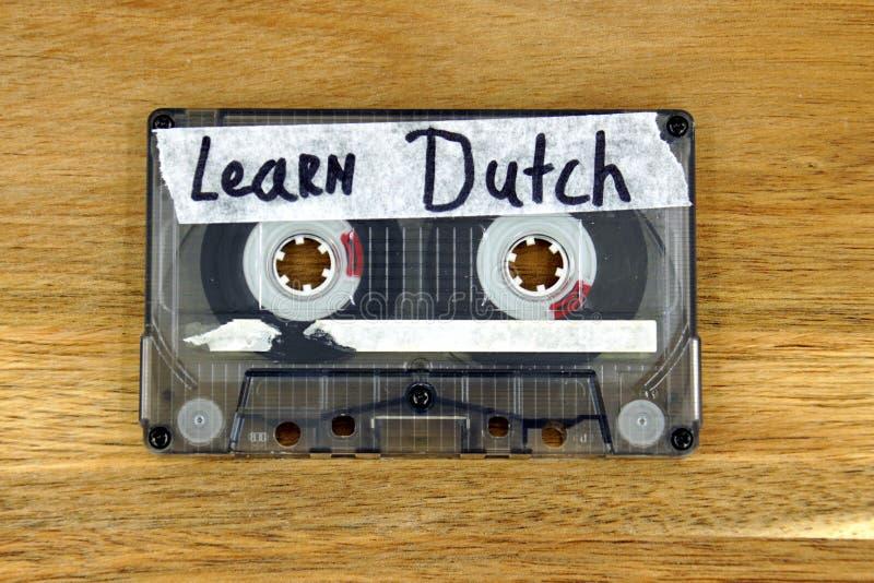 Bande de cassette sonore : Apprenez néerlandais photos libres de droits