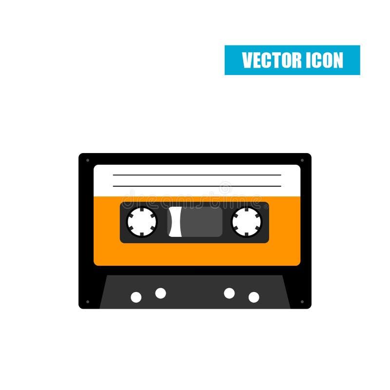 Bande de cassette sonore d'isolement sur le blanc illustration libre de droits