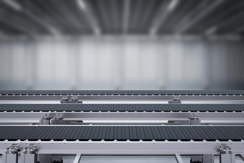 Bande de conveyeur en caoutchouc illustration de vecteur