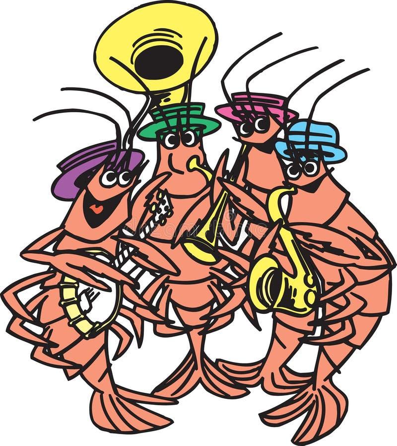 Bande de crevette illustration de vecteur
