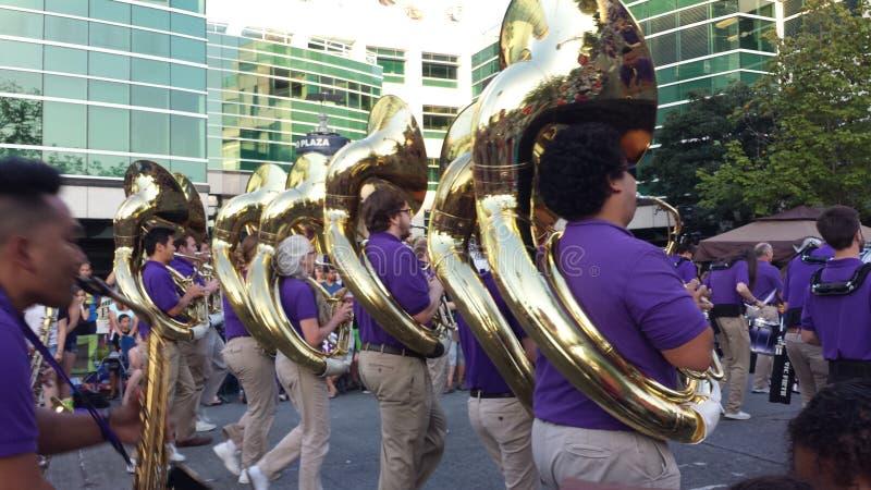 Bande de défilé de Seafare, Seattle photographie stock libre de droits