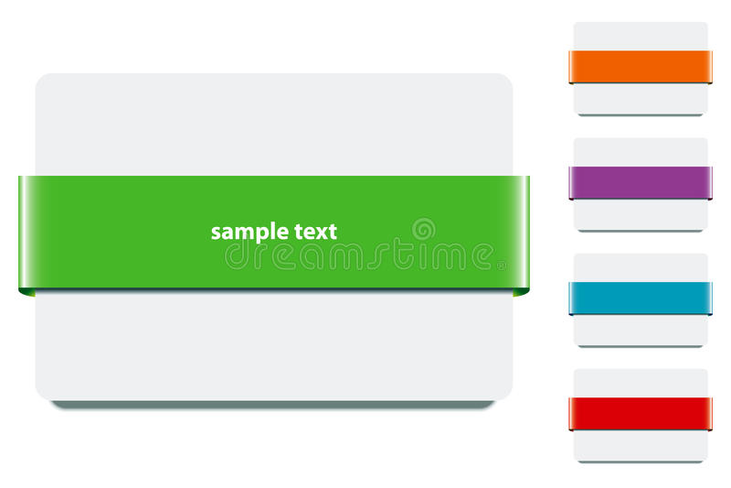 Bande de drapeau avec des couleurs - vecteur d'ENV illustration de vecteur