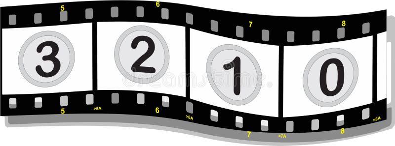 Bande de film avec des numéros illustration libre de droits