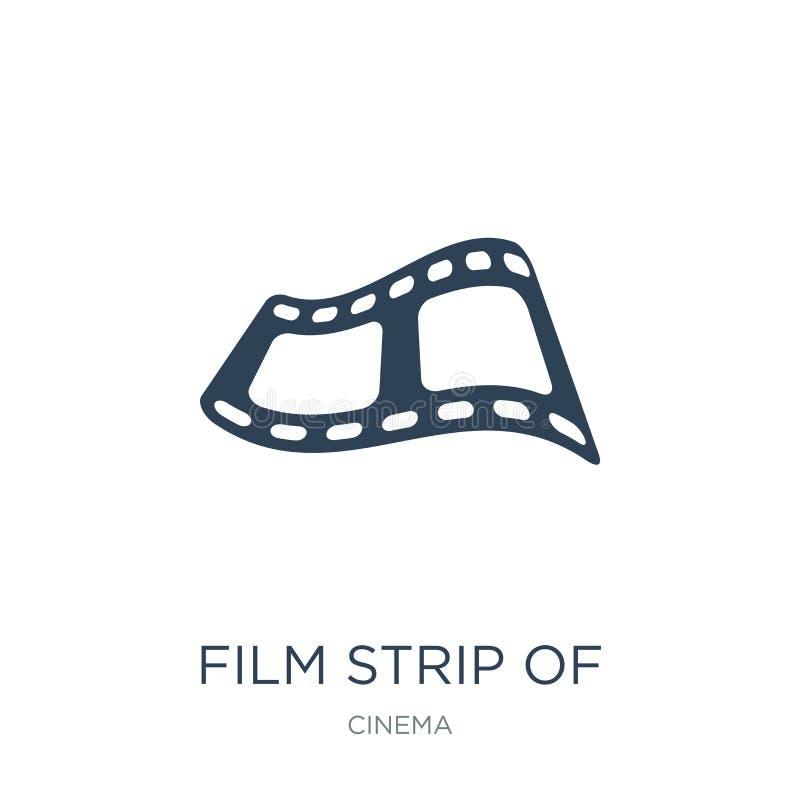 bande de film d'icône de deux photogrammes dans le style à la mode de conception bande de film de l'icône de deux photogrammes d' illustration stock