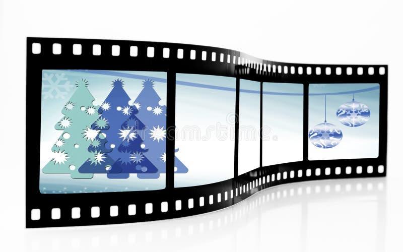 bande de film de Noël illustration libre de droits