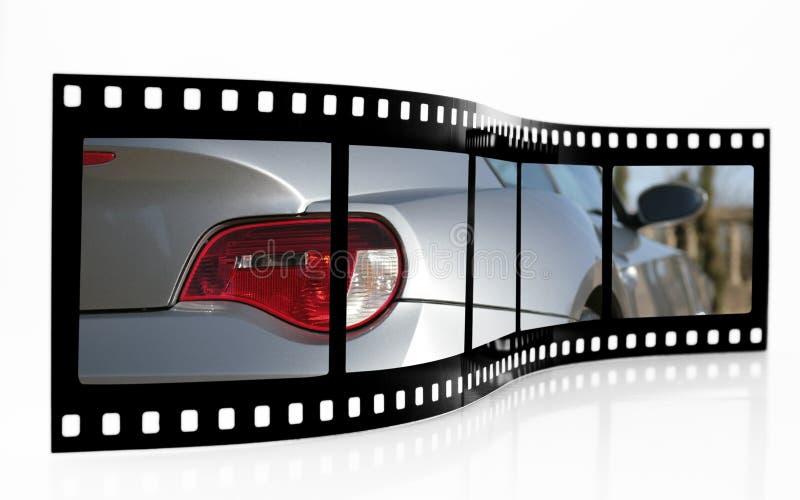 Bande de film de voiture de sport photographie stock