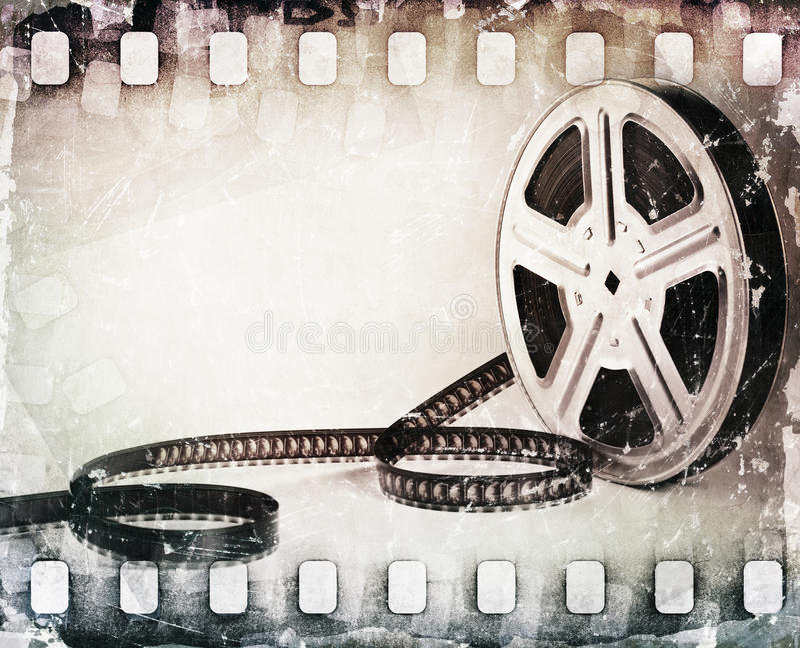 Bande de film rayée par grunge, fond de bobine illustration libre de droits