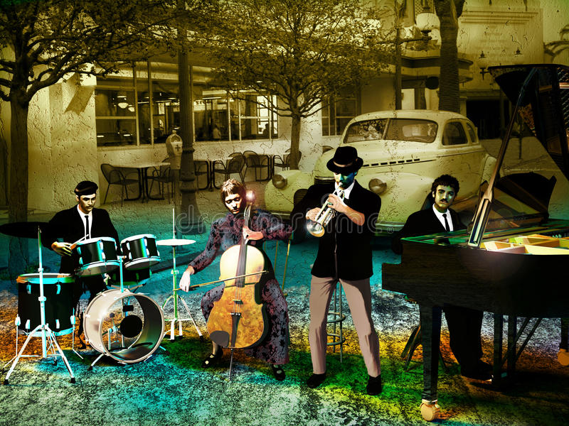 Bande de jazz illustration libre de droits