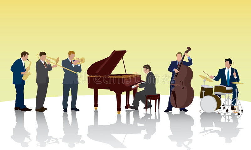 Bande de jazz illustration stock
