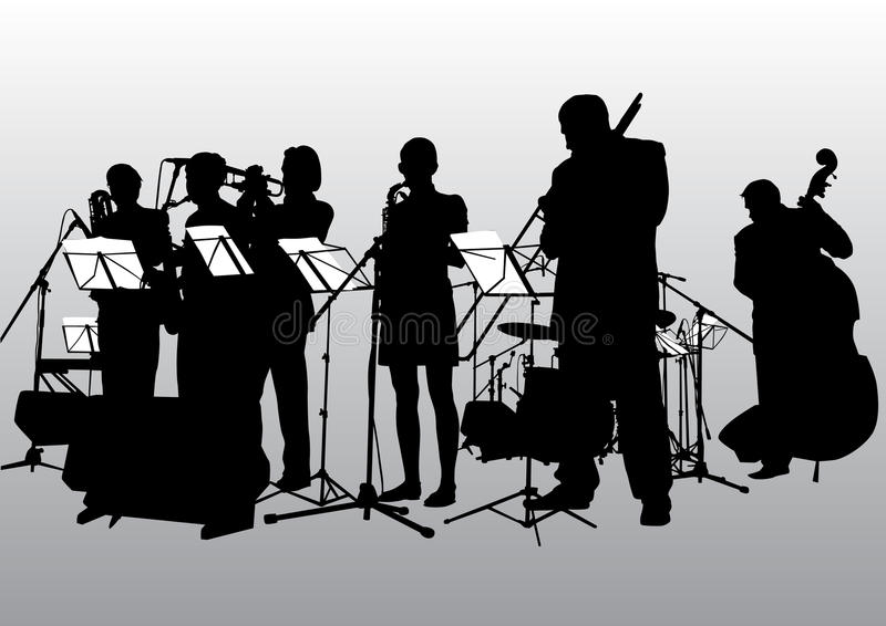 Bande de jazz de musique illustration libre de droits