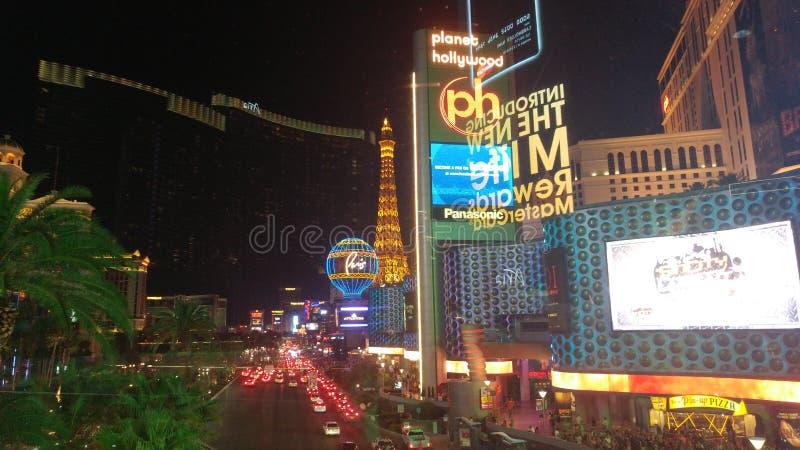 Bande de Las Vegas la nuit photos libres de droits